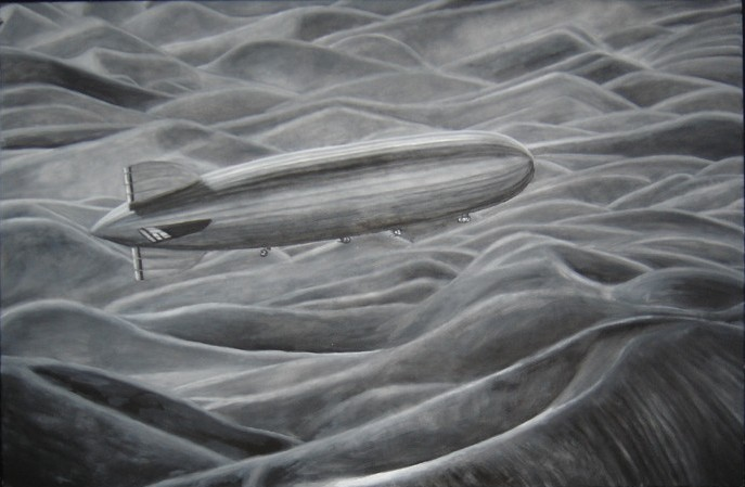 """Dream 595"", 58"" x 38"", oil on canvas, 2007"
